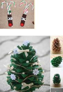 Examples of some of the many Christmas crafts we will be working on.