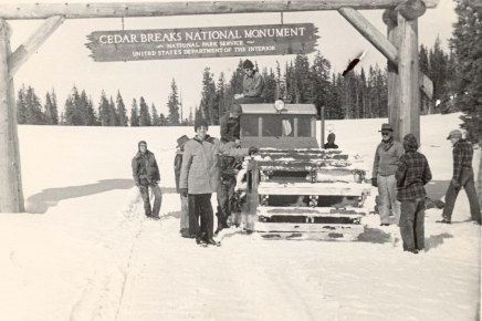 The Snow Tank at Cedar Breaks. This incredible machine is now on exhibit at Frontier Homestead.
